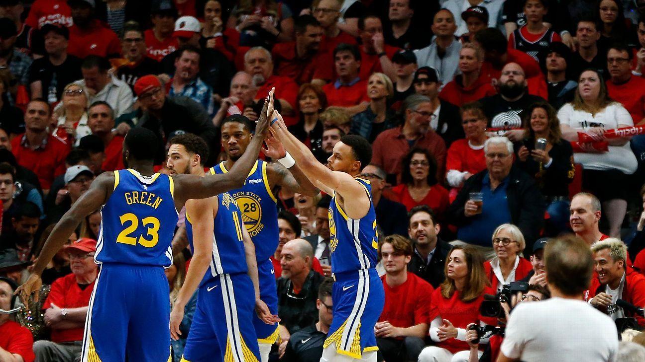 Warriors consuman histórica barrida al superar a Blazers