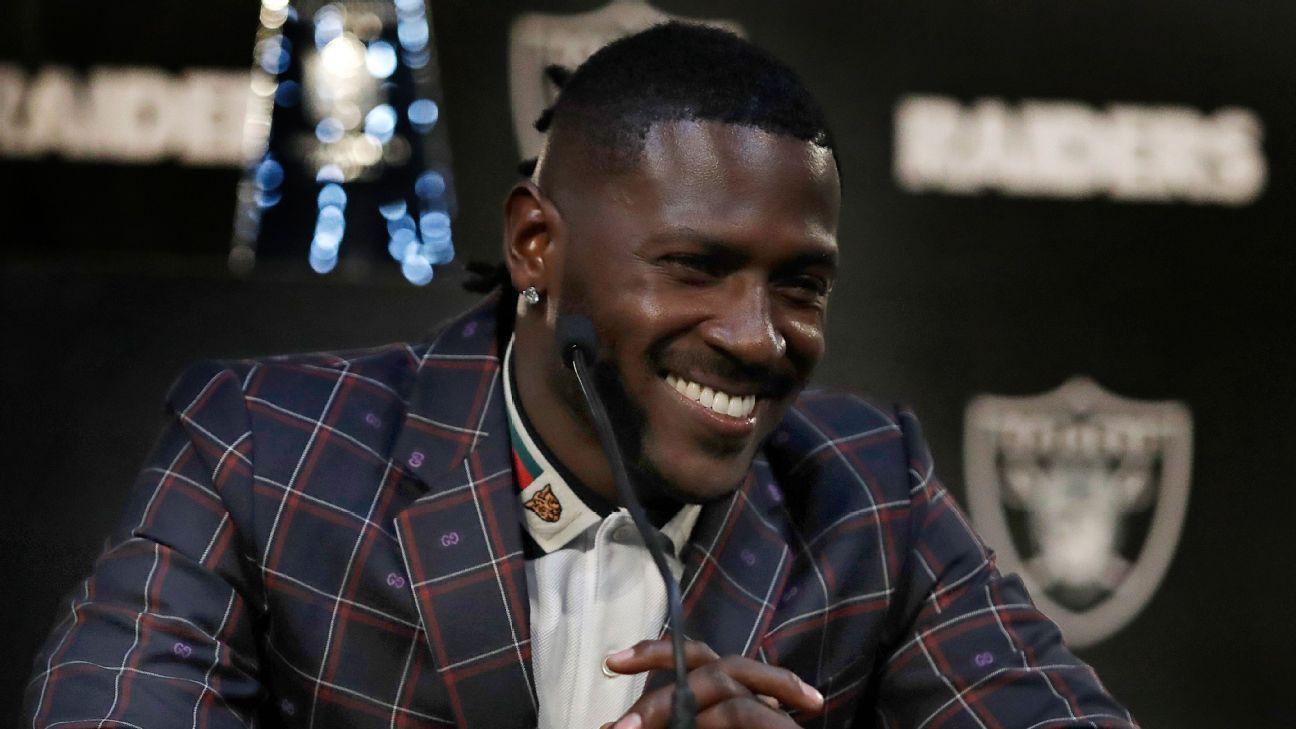 Antonio Brown ausente de prácticas con los Oakland Raiders