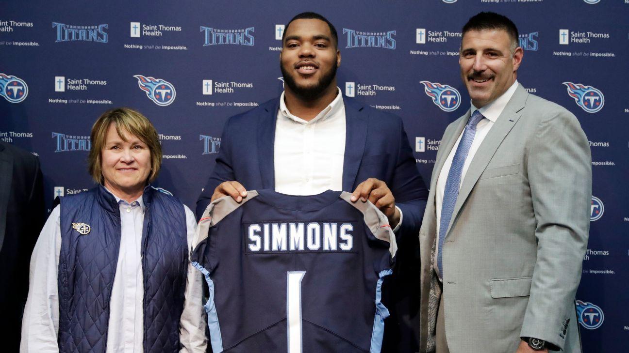 Titans firman al recluta de primera ronda Jeffery Simmons