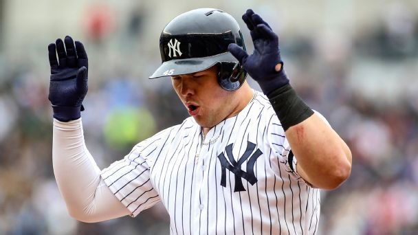 B-team Bombers? Hardly. Backups bid to equal 2018 Yankees' historic HR pace