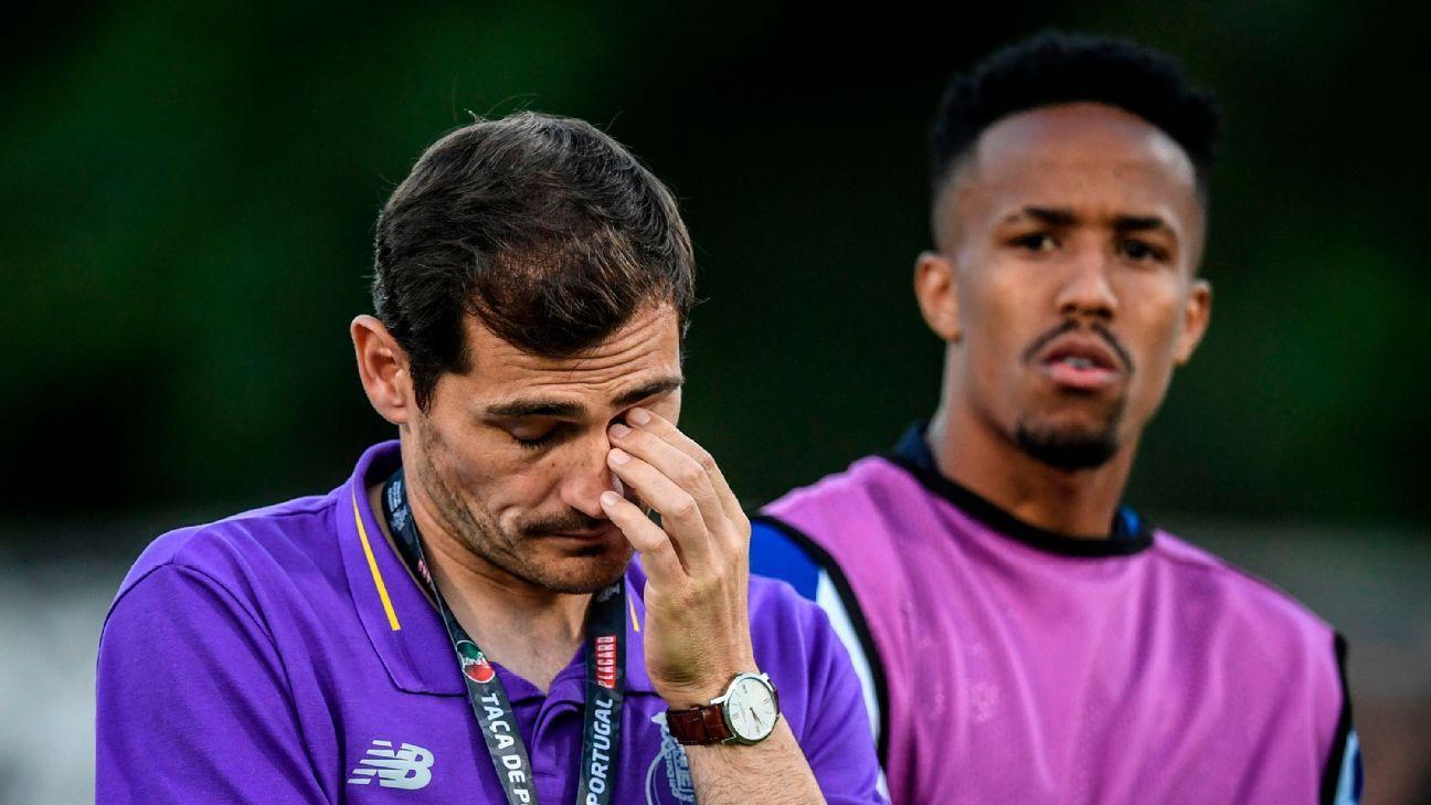 Casillas ganha homenagem de brasileiro do Porto, se emociona e vai às lágrimas na arquibancada; veja