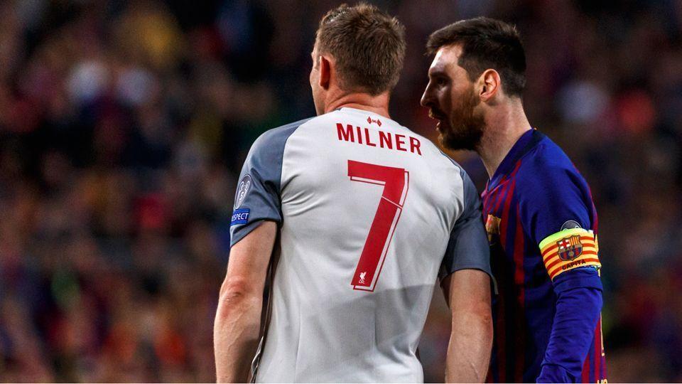 Milner diz que Messi o chamou de 'burro' durante jogo entre Barcelona e Liverpool