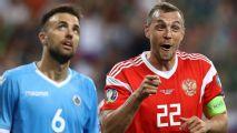 Nine-goal Russia thrash San Marino in Saransk