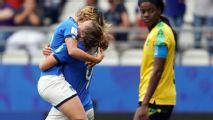 Girelli hat trick helps Italy reach last 16