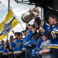 Rain can't dampen Blues' championship parade