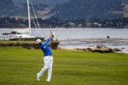 Woodland takes 1-shot lead into Sunday at Pebble
