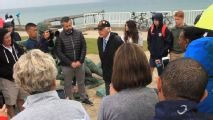 USWNT family members make emotional visit to Omaha Beach