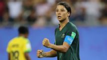 Sam Kerr's four goals lift Australia to knockout round