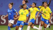 Marta sets World Cup goal record in Brazil win