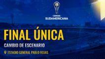 Conmebol muda pela 2ª vez local da final da Sul-Americana