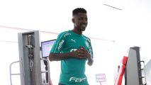 Ramires se apresenta e faz primeiro treino com a camisa do Palmeiras