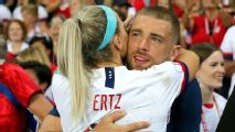 From Super Bowl to World Cup, Julie and Zach Ertz stay connected