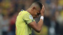 Esposa de colombiano que perdeu pênalti que eliminou seleção da Copa América relata ameaças: 'Recebi foto dos meus filhos'