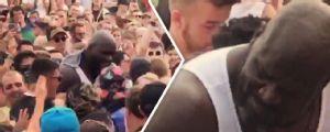 Shaquille O'Neal se esbalda em um dos maiores festivais de música do mundo