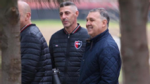 Gerardo Martino visitó las instalaciones de Newell's Old Boys