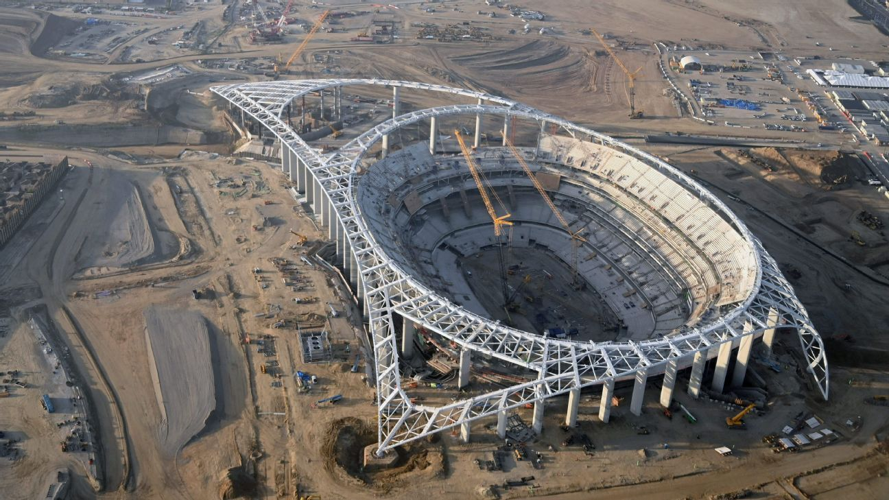 SoFi Stadium construction continues within rules
