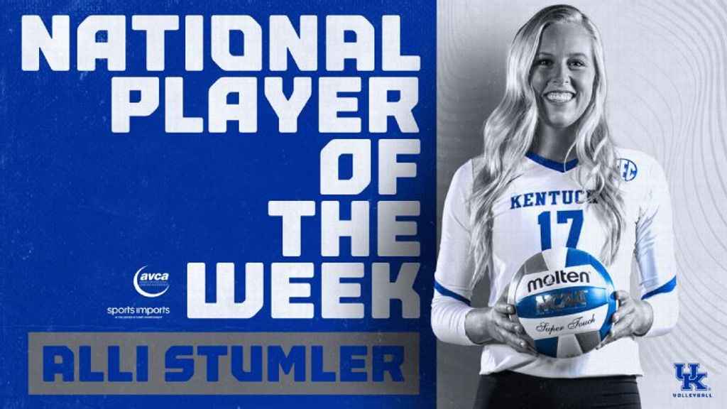 UK's Stumler honored as National Player of the Week