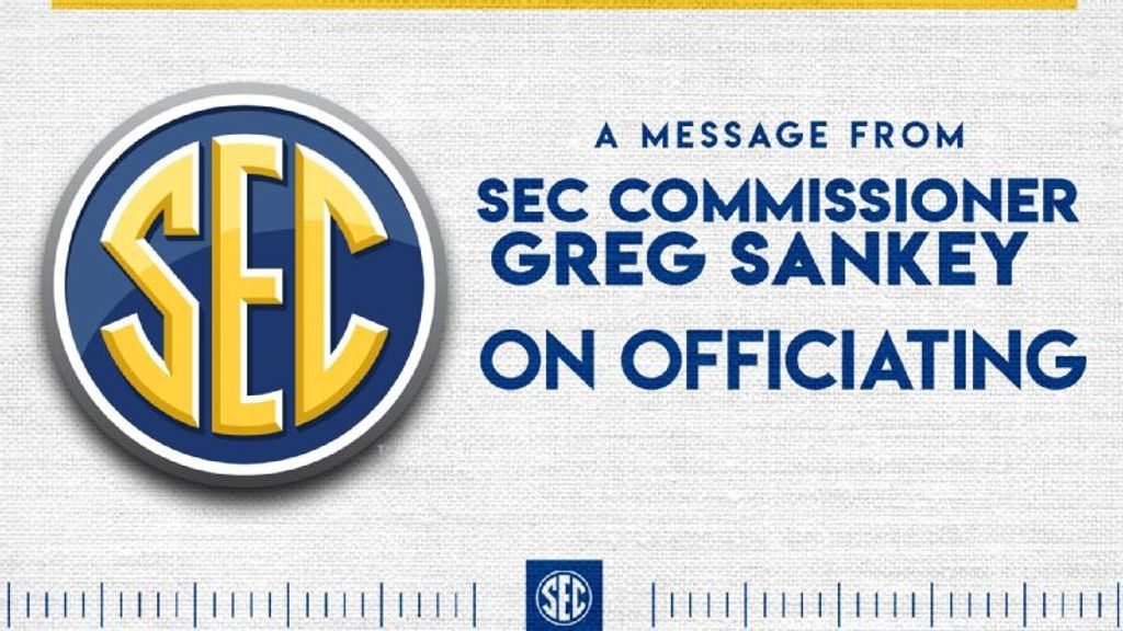 SEC Commissioner Greg Sankey on SEC Officiating