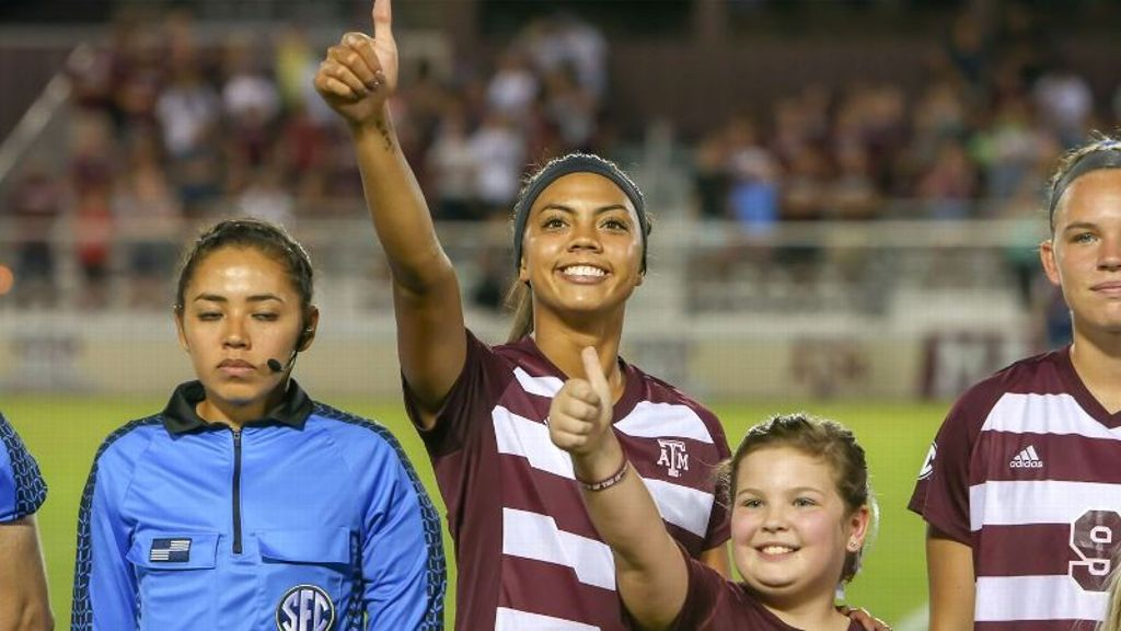 Watt records her second career hat trick in Aggies win