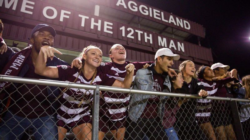 Texas A&M scores four straight goals to drop Texas