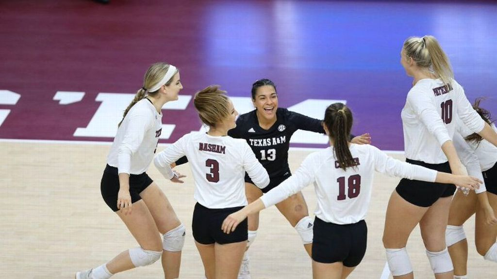 Aggies' third-set performance seals deal in tourney win