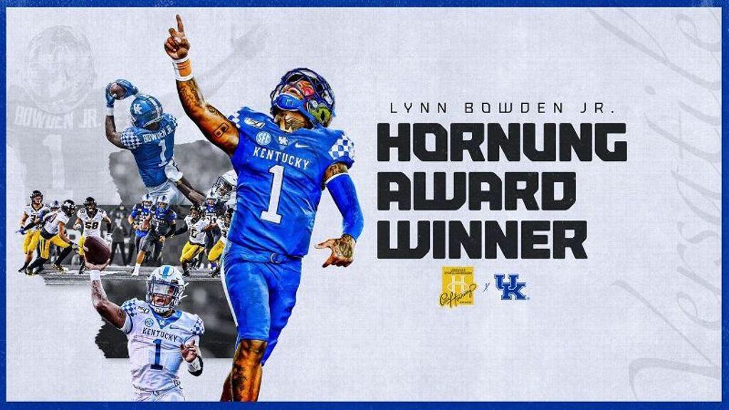Kentucky's Bowden wins Hornung Award