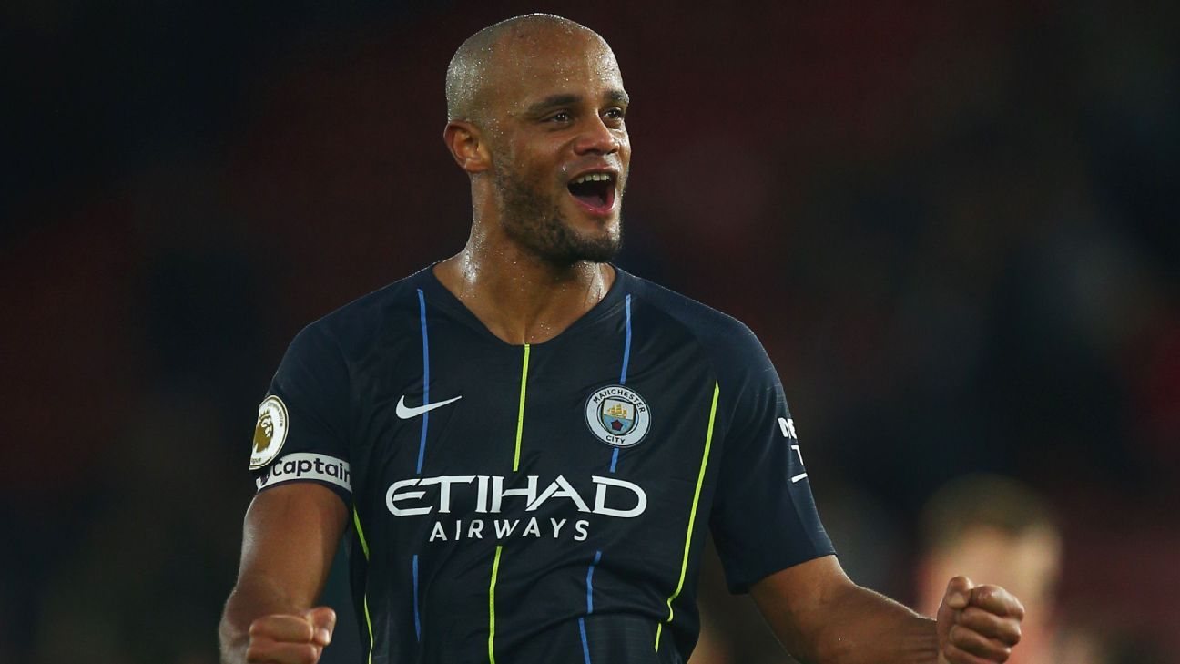 Manchester City's Kompany set for one-year deal on lower wages - sources