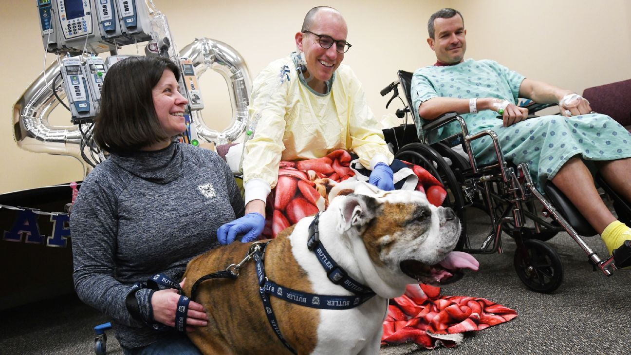 Butler's bulldog handler gets kidney transplant from brother, inspires other donations