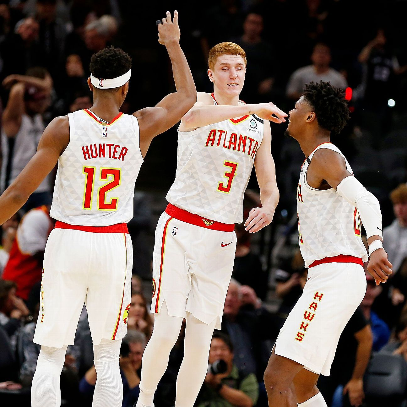 Atlanta won in San Antonio for the first time since Feb. 15, 1997, which predates the birth of all five Hawks starters.