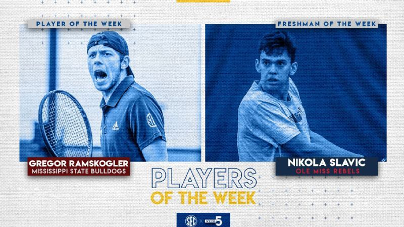 SEC Men's Tennis Weekly Honors