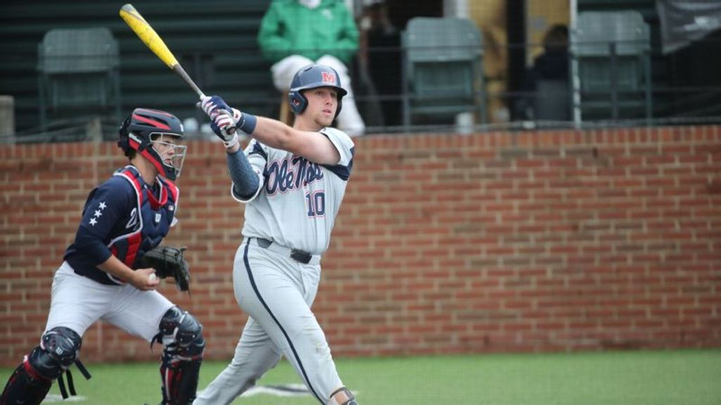 Timely offense and dominant pitching lead Rebels to win