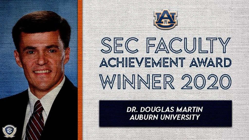Martin wins 2020 Faculty Achievement Award for Auburn