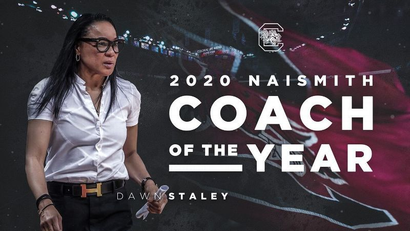 Staley makes history as Naismith Coach of the Year