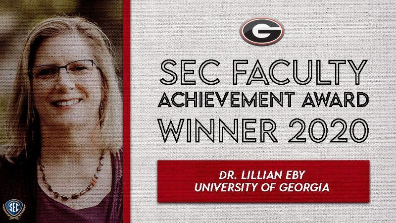 Eby wins 2020 Faculty Achievement Award for Georgia