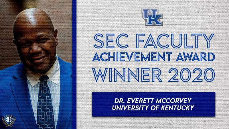 McCorvey honored for faculty achievement at UK