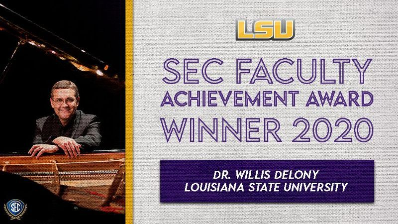 LSU's Delony wins SEC Faculty Achievement Award