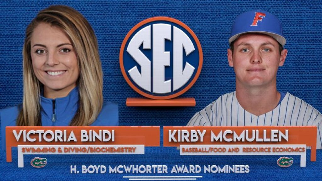 Gators' Bindi, McMullen nominees for McWhorter award