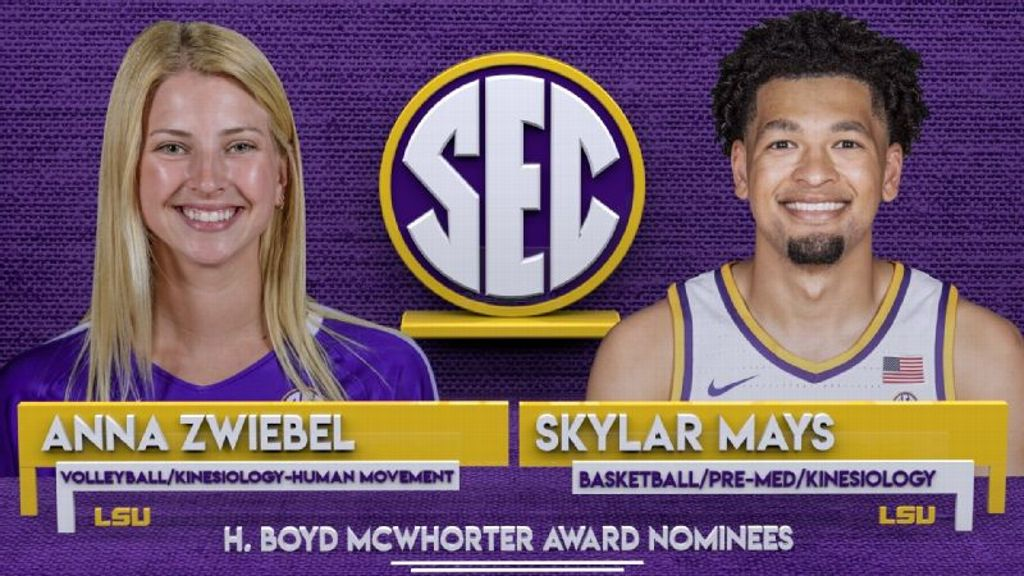 LSU's Mays, Zwiebel nominees for McWhorter award