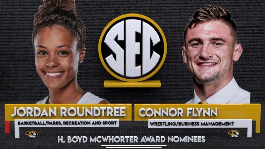 Mizzou's Flynn, Roundtree nominees for McWhorter Award