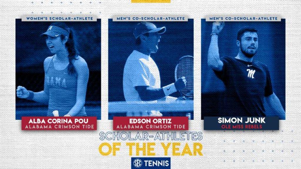 SEC announces 2020 tennis Scholar-Athletes of the Year
