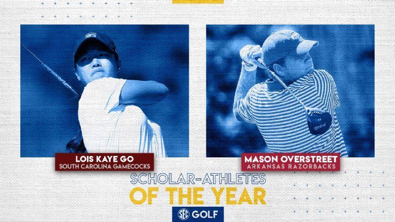 SEC announces 2020 golf Scholar-Athletes of the Year