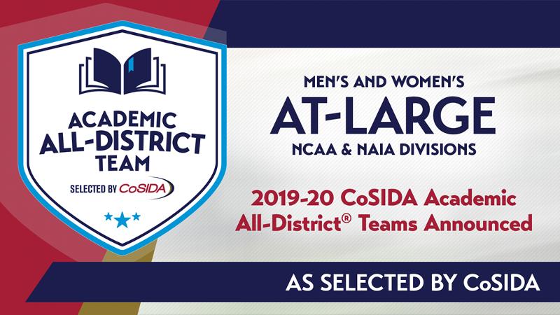 15 named to 2020 CoSIDA Academic At-Large Teams