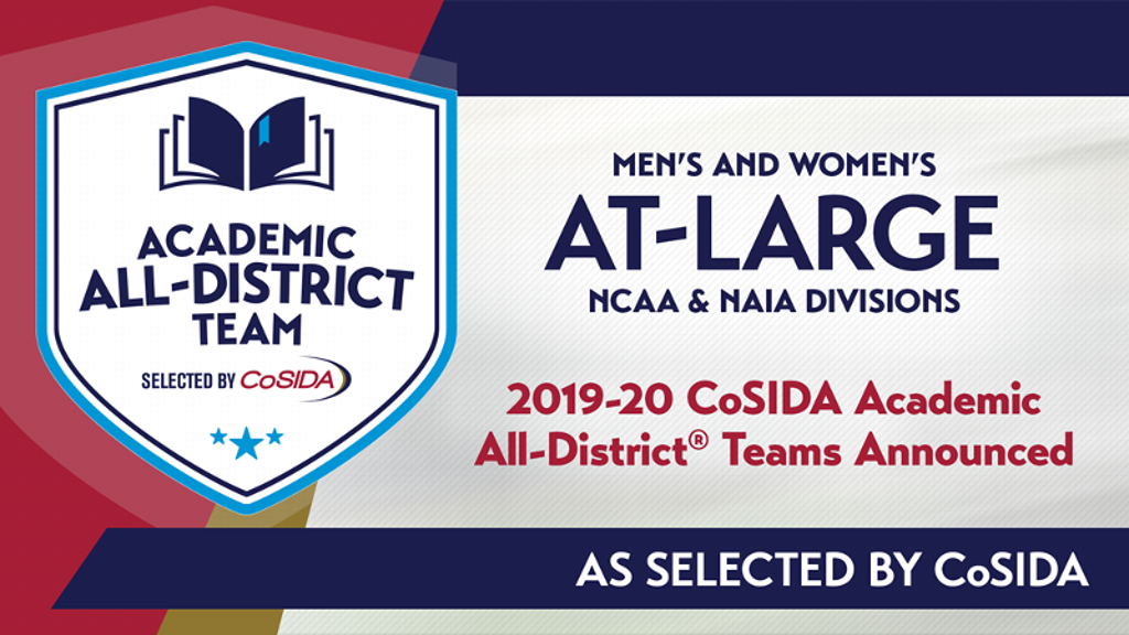 15 named to 2020 CoSIDA Academic At-Large Teams
