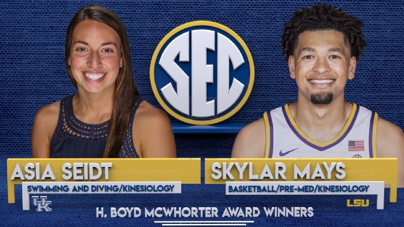 Mays, Seidt are McWhorter Scholar-Athletes of the Year