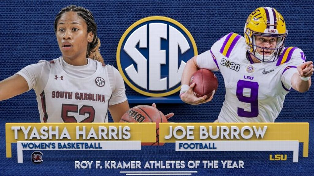 Burrow, Harris named Roy F. Kramer Athletes of the Year