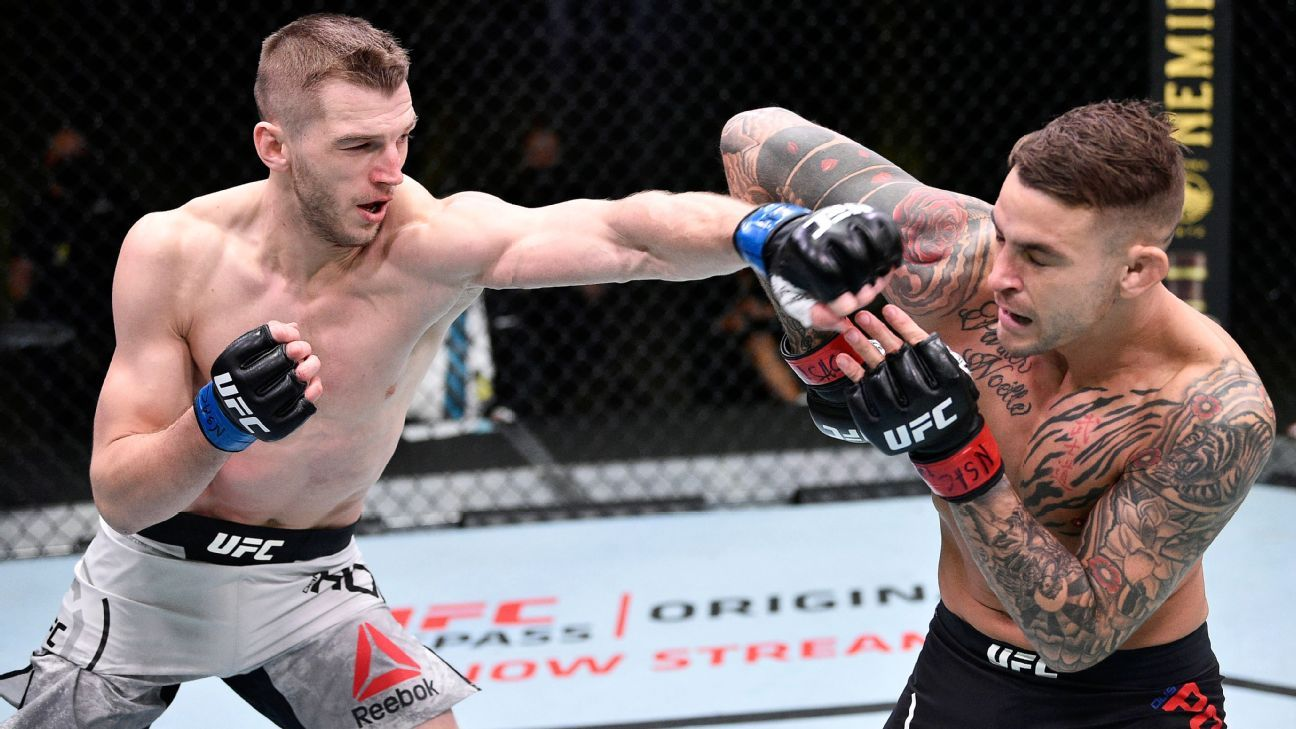 Photo of Experts debate who's next for Dustin Poirier and Mike Perry's coach-less strategy   ESPN.com