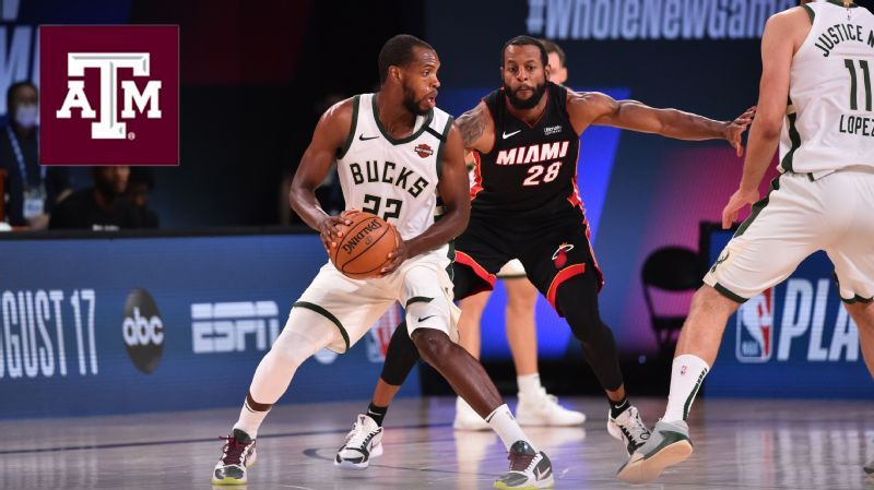 Former A&M standout Middleton leads Bucks vs. Mavs