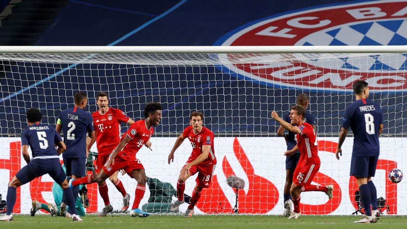 Paris Saint Germain Vs Bayern Munich Football Match Report August 23 2020 Espn