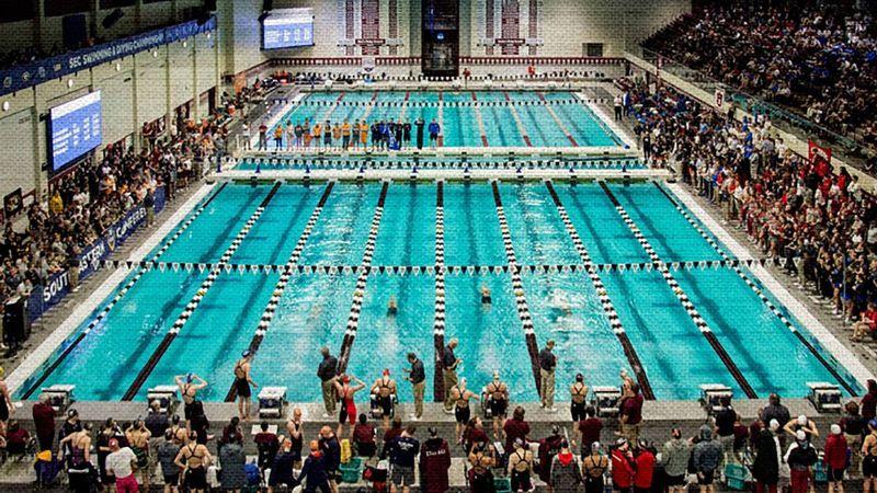 SEC Women's Swimming & Diving Community Service Team