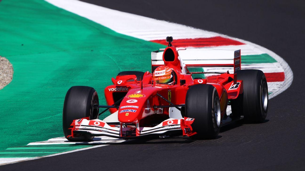 Mick Schumacher Drives Michael S 2004 Ferrari At Tuscan Grand Prix